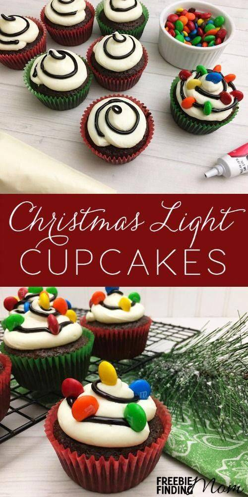 how to make Christmas Light Cup cakes