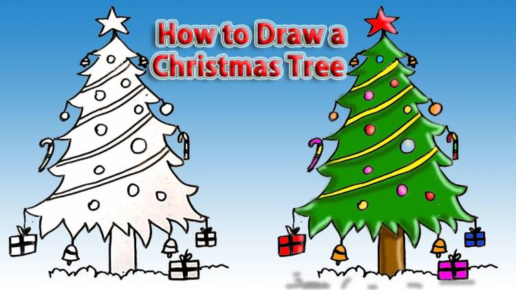 How to Draw a Christmas Tree? Step by Step Drawing Guides