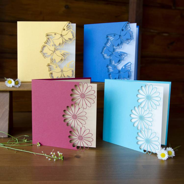 how to make Papercut Christmas Greeting Cards
