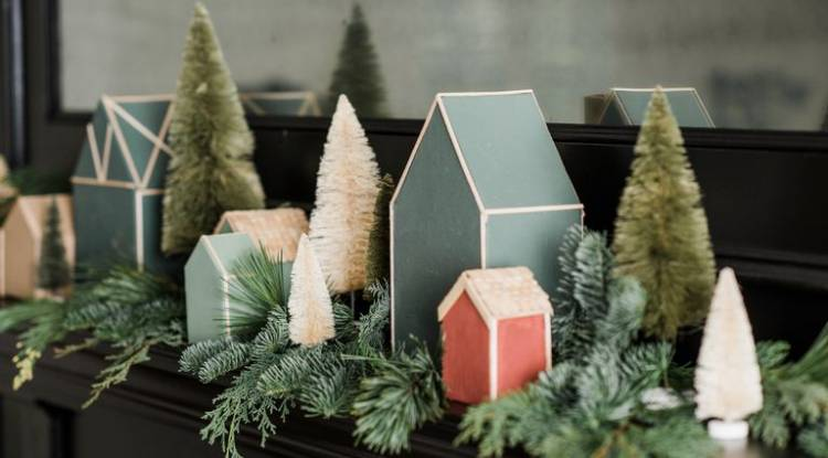 DIY Christmas Village Templates