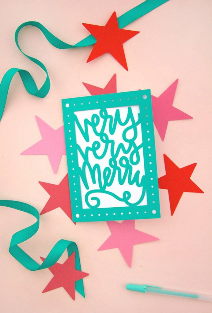 papercut Christmas greeting cards