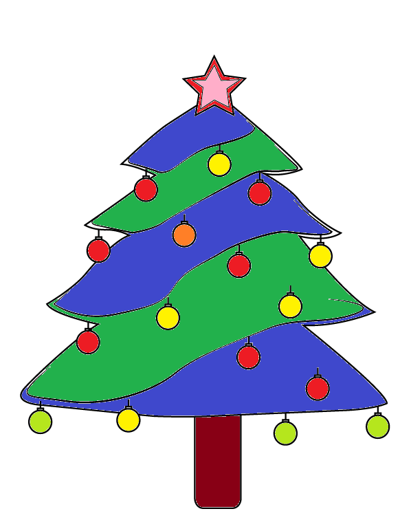 How to Draw a Christmas Tree? Step by